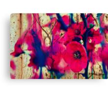 Grunge Blossom Canvas Print
