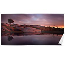 Sunset at Dog Rocks Poster