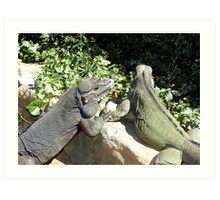 "THINK LIZARDS: ""The Proposal...Lizards in Love"" Art Print"