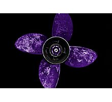 Propeller - Purple Photographic Print