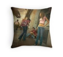 Dominant male Throw Pillow