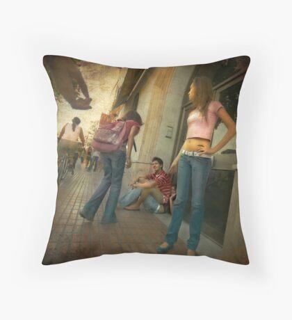 Dominant male Throw Pillow