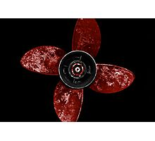 Propeller - Red Photographic Print