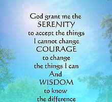 Serenity Prayer September Sky by serenitygifts