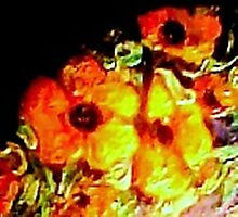 Poppies.  Detail, Oil on Canvas Photographic Print