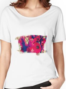 RED  BLOSSOM Women's Relaxed Fit T-Shirt