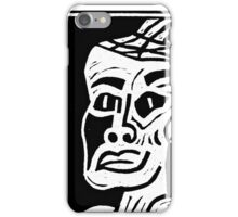 African Woman Linocut Print iPhone Case/Skin