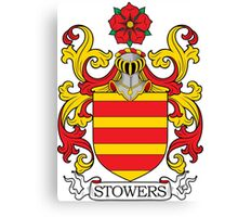 Stowers Coat of Arms Canvas Print