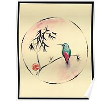 'Little Muse'   hummingbird watercolor painting Poster