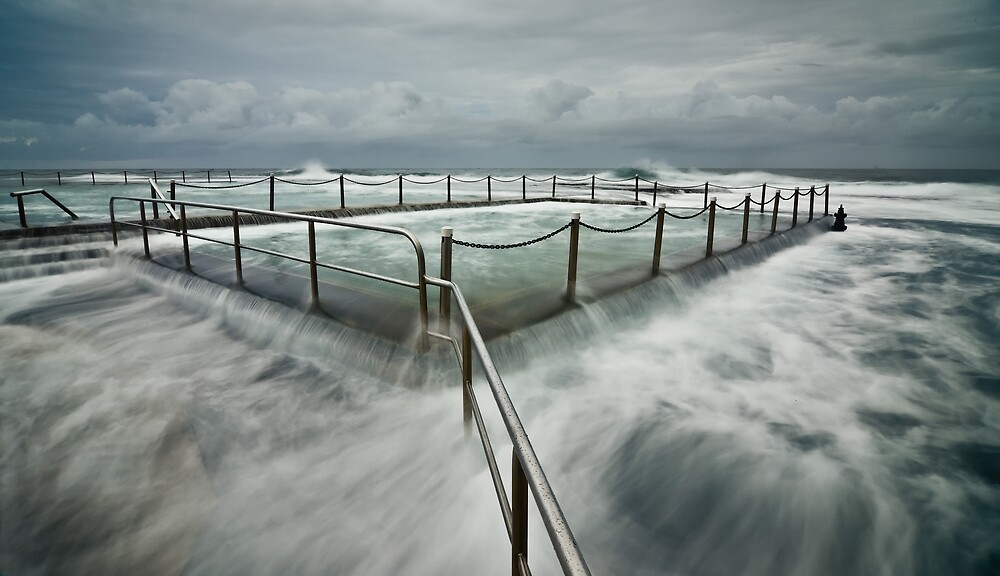 King Tide At Mona Vale Pool by Brent Pearson