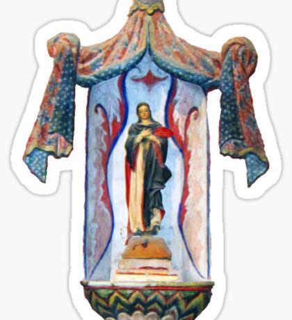 San Xavier's Mother Mary Sticker