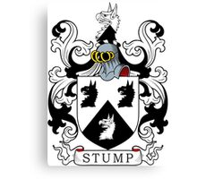 Stump Coat of Arms Canvas Print