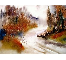Landscape..Winter Walk Photographic Print