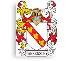Tankersley Coat of Arms Canvas Print