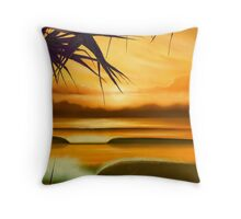 Pandanus Sunrise Throw Pillow