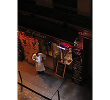 The Chef, a coffee and no patrons - Paris Photographic Print
