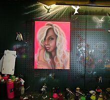 airbrush easel by Airbrushr  Rick Shores