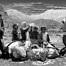 KURDISH CHILDREN AND OLD MAN by kfbphoto