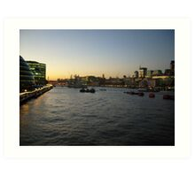 The River Thames Art Print