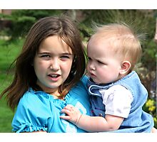 Due Nieces  Photographic Print
