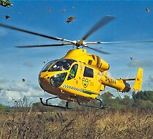 Lincs Ambucopter Leafy Liftoff by Colin Smedley