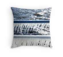 Icicle Railing Throw Pillow