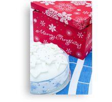 Christmas Cake Canvas Print