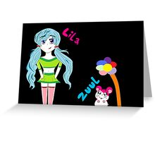 Lila and Zuul Greeting Card