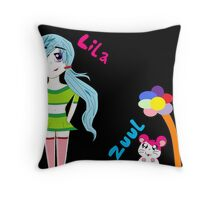 Lila and Zuul Throw Pillow