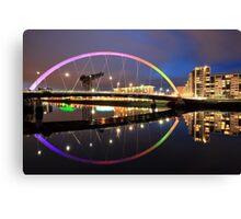 The Glasgow Clyde Arc Bridge Canvas Print
