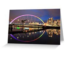 The Glasgow Clyde Arc Bridge Greeting Card