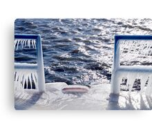 Ice On Channel Canvas Print