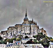 Mont St Michel, France by DES PALMER