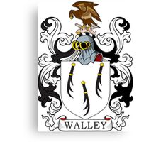 Walley Coat of Arms Canvas Print