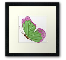 Abstract colorful butterfly 8 Framed Print