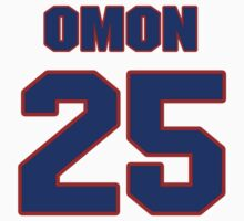 National football player Xavier Omon jersey 25 by imsport
