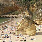 Albufeira beach II by Tom Gomez