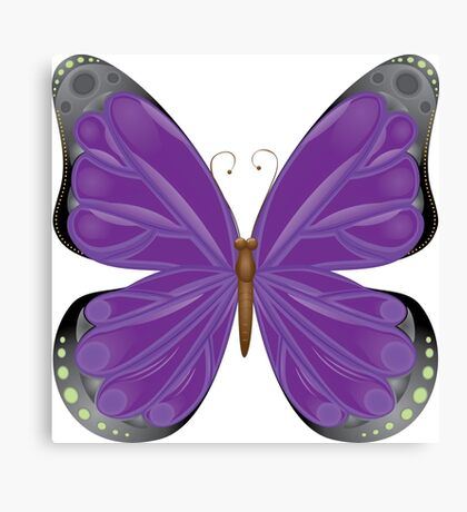 Abstract colorful butterfly 10 Canvas Print