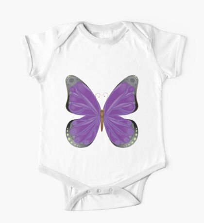 Abstract colorful butterfly 10 One Piece - Short Sleeve