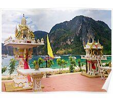 Thai Spirt Houses on Koh Phi Phi Poster