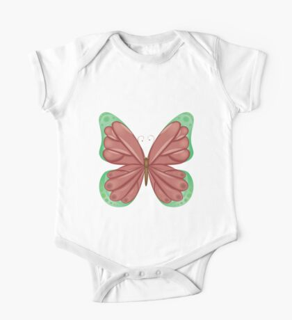 Abstract colorful butterfly 11 One Piece - Short Sleeve