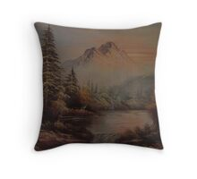 River Lanscape Throw Pillow