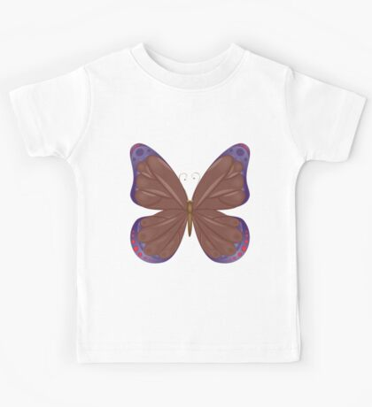 Abstract colorful butterfly 12 Kids Tee