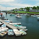 Perkins Cove Maine by Curley