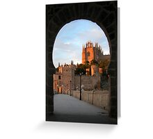 Toledo through the Keyhole Greeting Card