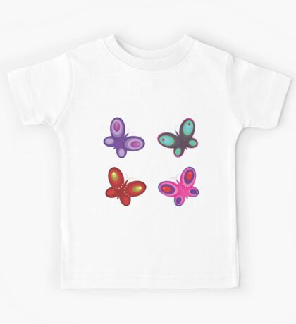 Abstract colorful butterflies Kids Tee