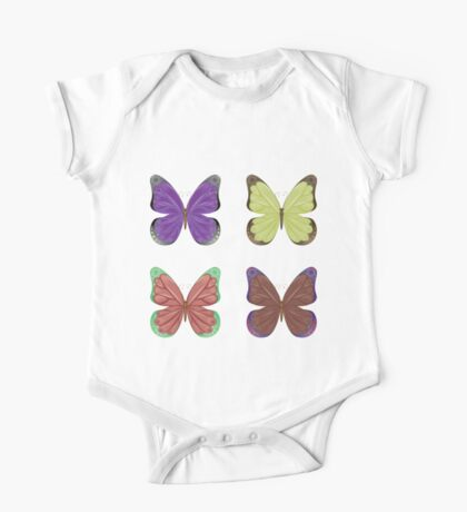 Abstract colorful butterflies 2 One Piece - Short Sleeve