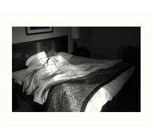 Un-made bed Art Print
