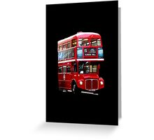 Here Comes A London Bus! Greeting Card