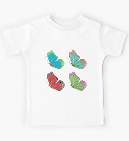 Abstract colorful butterflies 3 Kids Tee